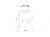 Резьбовое быстроразъемное соединение Grundfos G 1 1/2 х Rp 1 GG (2 шт)