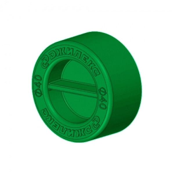 Заглушка для трубы  ПНД 25 мм (зеленая)