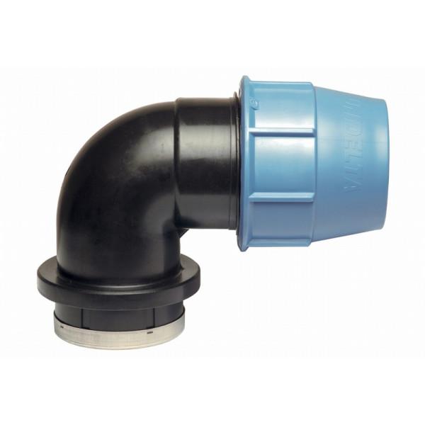 Колено 90° с внутренней резьбой D50/Rp1 1/2 PN10PPE Unidelta